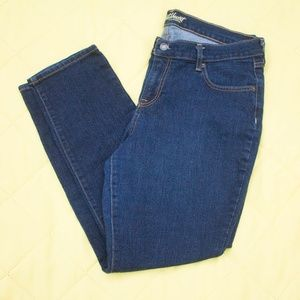Short Inseam Dark Wash Sweetheart Skinny Jeans